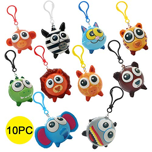 (Sinofun 10PCS Big Eye Animal Squishy Keychain, Cute Slow Rising Squishies Toys Hang Set, Party Favor/Birthday Gifts for Boys/Girls/Kids, Including)