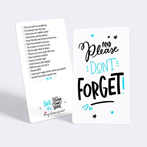 """Tiny Love Cards - Set of 85 Cute Mini """"Don't Forget..."""" Inspirational Note Cards - Encouragement, Empowering, Just Because or Lunch Box Notes for Friends, Family, Kids, Students & - Gift Ideas $75"""