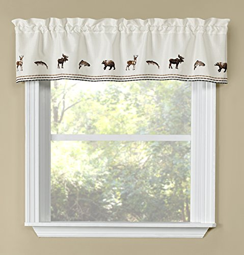 "Renaissance Home Fashion Lodge Embroidered Valance, 58"" X 12"""