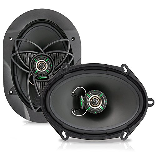 "180w Two Way Speakers - Lanzar Upgraded VX 6.8"" Pair of 2 Way Car Speaker - Powerful 180 Watts 30 Oz Magnet Structure 4 Ohms 54-22KHz Frequency Response w/ 1"" High Temperature Voice Coil and Neodymium Dome Tweeter - VX572"