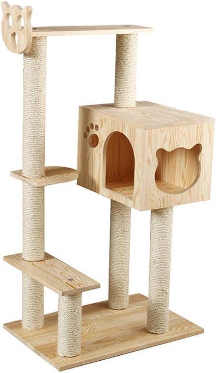 Cat Tree Tower Condo Furniture - Sisal de Madera Maciza ...