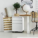 3-Drawer Filing Cabinet, Metal Vertical File