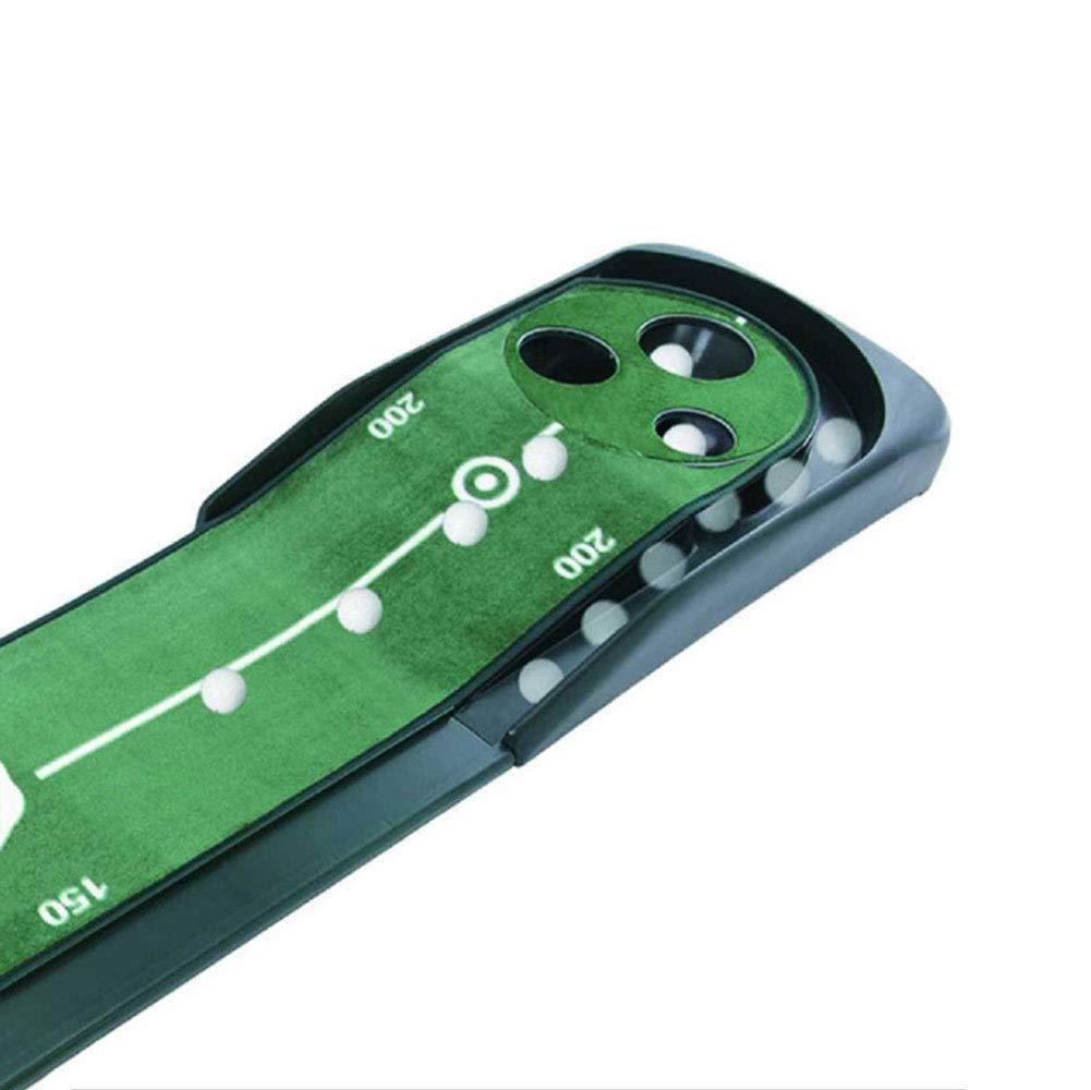 CNゴルフパッティング練習 - 3ホールデザイン - ゴルフ室内グリーン練習ブランケット、長さ118インチ、A、ワンサイズ