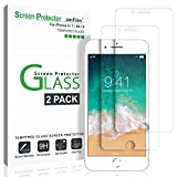 image for iPhone 8, 7, 6S, 6 Screen Protector Glass, amFilm Tempered…