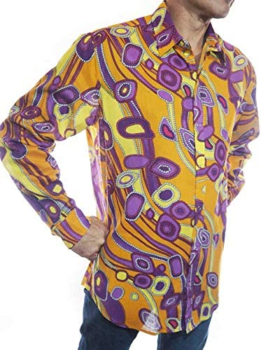 pacap - Camisa para Hombre Vintage Hawaiana Colorida Camisa ...