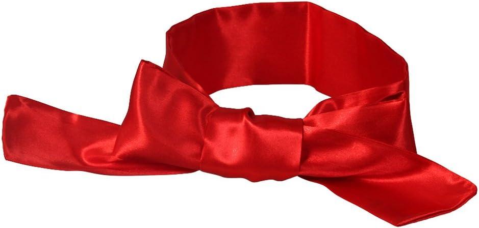 maschera per dormire per adulti fascia per gli occhi 2 pezzi LUOEM Maschera per occhi in raso nero e rosso amanti delle coppie