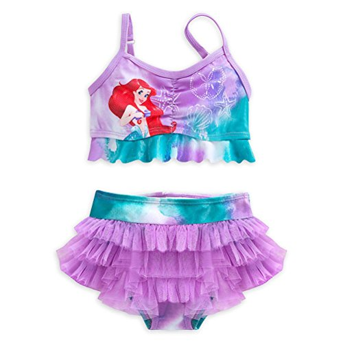 Disney Store Princess The Little Mermaid Ariel Girl Two Piece Swimsuit Size 5/6