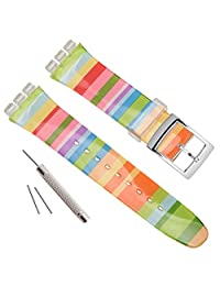 Replacement Waterproof Silicone Rubber Watch Strap Watch Band (17mm, Blackish Green)