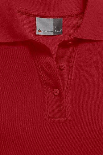 Langarm Poloshirt Damen, M, Feuerrot