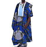 Abetteric Men African Dashiki Gowns Batik Oversized Mulit Color T Shirts 12 3XL