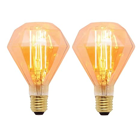 Vintage Edison 4 W Regulable LED filamento filamento Diamante Diseño E27 Bombilla decorativa Bulb Home –