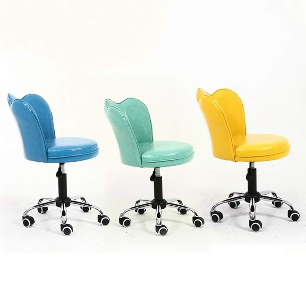 WYY HPLL kontorsstol svängbar stol, PU hushåll datorstol, lyft svängbar stol, kontorsskrivbordsstol, klädpall, barpall, 8 färger svängbar stol (färg: Brun) gRÖN