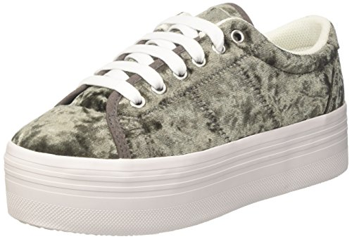 Grey Campbell Velvet Jeffrey Jcpzomgvelvet White Low top Damen Grau Sole Dark 8pOTxpP