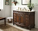 """48"""" Benton Collecyion Old Fashion Style Marble Top Bathroom Sink Vanity - Q036M Florence"""