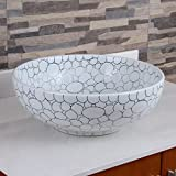 ELIMAX'S 2018 Cobblestone Pattern Porcelain Ceramic Bathroom Vessel Sink