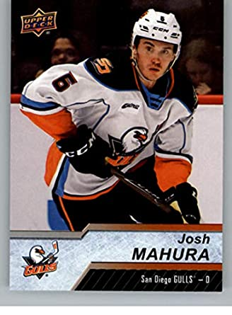 Amazon Com 2018 19 Ud Ahl Hockey 78 Josh Mahura Rc Rookie San