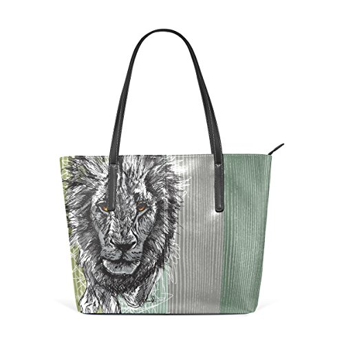 Printing Lion Bennigiry Judah Women Leather for Tote Pu Handbag The Of Shoulder xII5gnaq