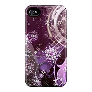 For Iphone 4/4s Tpu Phone Case Cover(new Years Celebration)