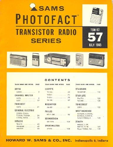 Sams Photofact, July 1965, TSM-57 Transistor Radio Series (Antique Transistor Radios)