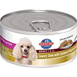 Hill's Science Diet Adult Small and Toy Savory Stew Chicken/Vegetables Dog Food Can, 5.5-Ounce, 24-Pack, My Pet Supplies