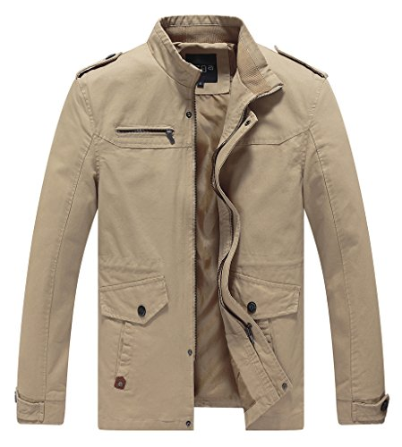 Lega-Mens-Casual-Thick-Jacket-Cotton-Stand-Collar-Windbreaker