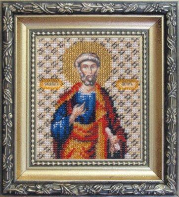 Beadwork kit Charivna mit #B-1050 The Icon of Apostle Peter 9x11 cm / 3.54x4.33 in