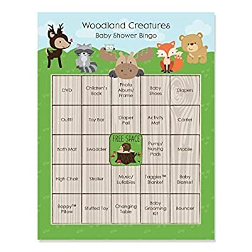 Amazon woodland creatures baby shower game bingo cards 16 amazon woodland creatures baby shower game bingo cards 16 count toys games solutioingenieria Choice Image