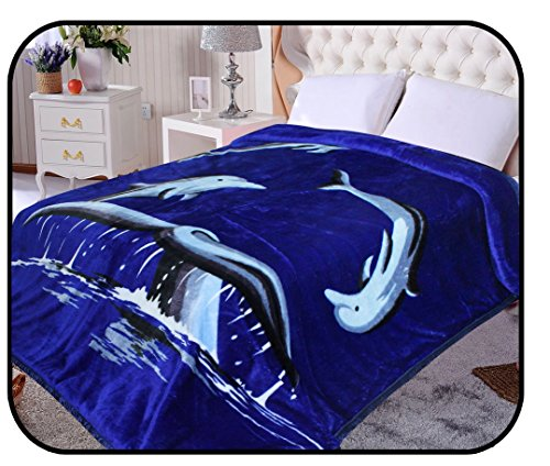 2ply-dolphin-animal-blanket-korean-blanket-comfy-safari-mink-blanket-warm-comfort-summer-camping-ful