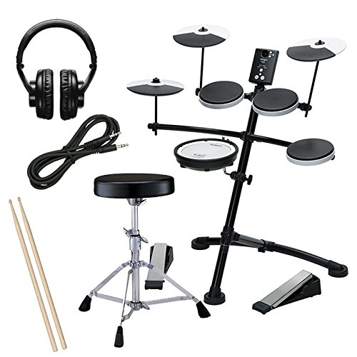 Roland TD-1KV Electronic Drum Set BUNDLE w/ Throne, Headphones, Sticks, and Cables