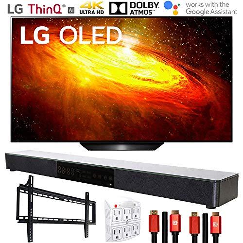 LG OLED55BXPUA 55 BX 4K OLED TV AI ThinQ (2020) with Deco Gear Soundbar Bundle