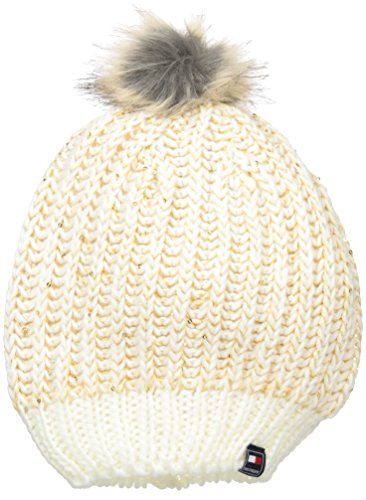 Tommy Hilfiger Women's Chunky Beaded Beanie with Faux Fur...