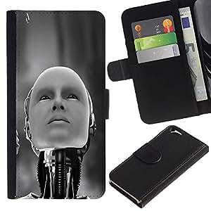 KingStore / Leather Etui en cuir / Apple Iphone 6 / Robot humanoide