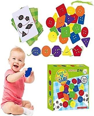 Vaycally Juegos de Mesa interactivos Cuerda y Botones Juego de Mesa Niños Escritorio Juego de crianza Interactivo Juguete Educativo Educativo para niños, Enseña a tu Hijo: Amazon.es: Hogar