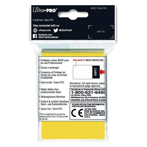 Multi Ultra Pro Gaming Generic 82675 Deck Protector One Size Ultra PRO International UPR82675