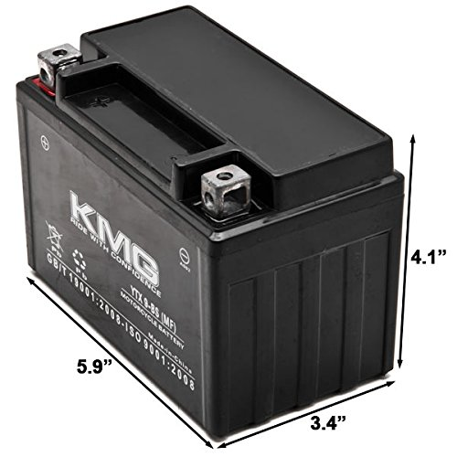 KMG YTX9-BS Sealed Maintenace Free Battery High Performance 12V SMF OEM Replacement Maintenance Free Powersport Motorcycle ATV Scooter by KMG (Image #2)