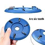 Six Teeth Power Wood Carving Disc Tool Milling