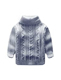 Mud Kingdom Toddler Boys Girls Turtleneck Pullover Base Tops Sweater