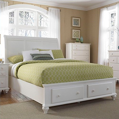 Broyhill Hayden Place Panel Storage Bed in White - Queen