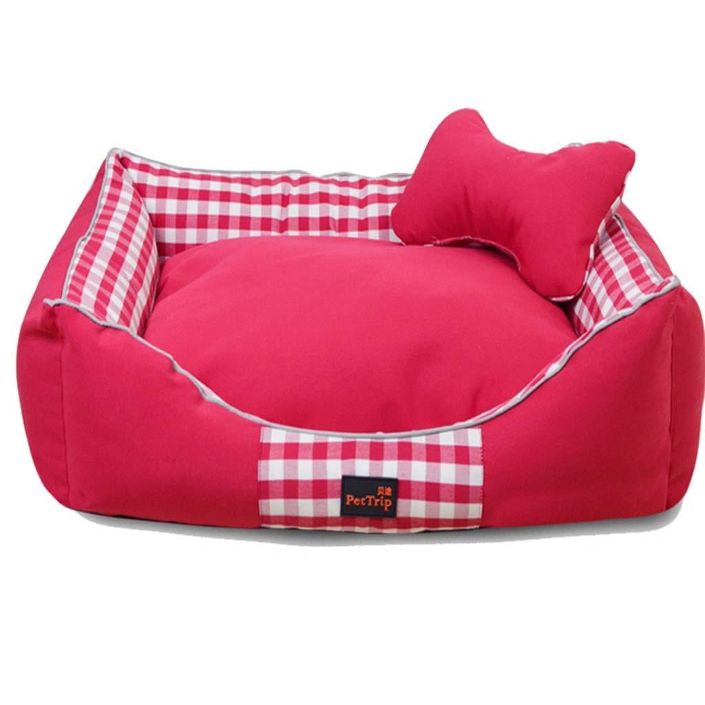 100×80×20cm Bpet bed Pet Mat, Large Dog Kennel Cat House Removable And Washable Nest Wearresistant Bite Pet Bed (color   C, Size   65×50×18CM)
