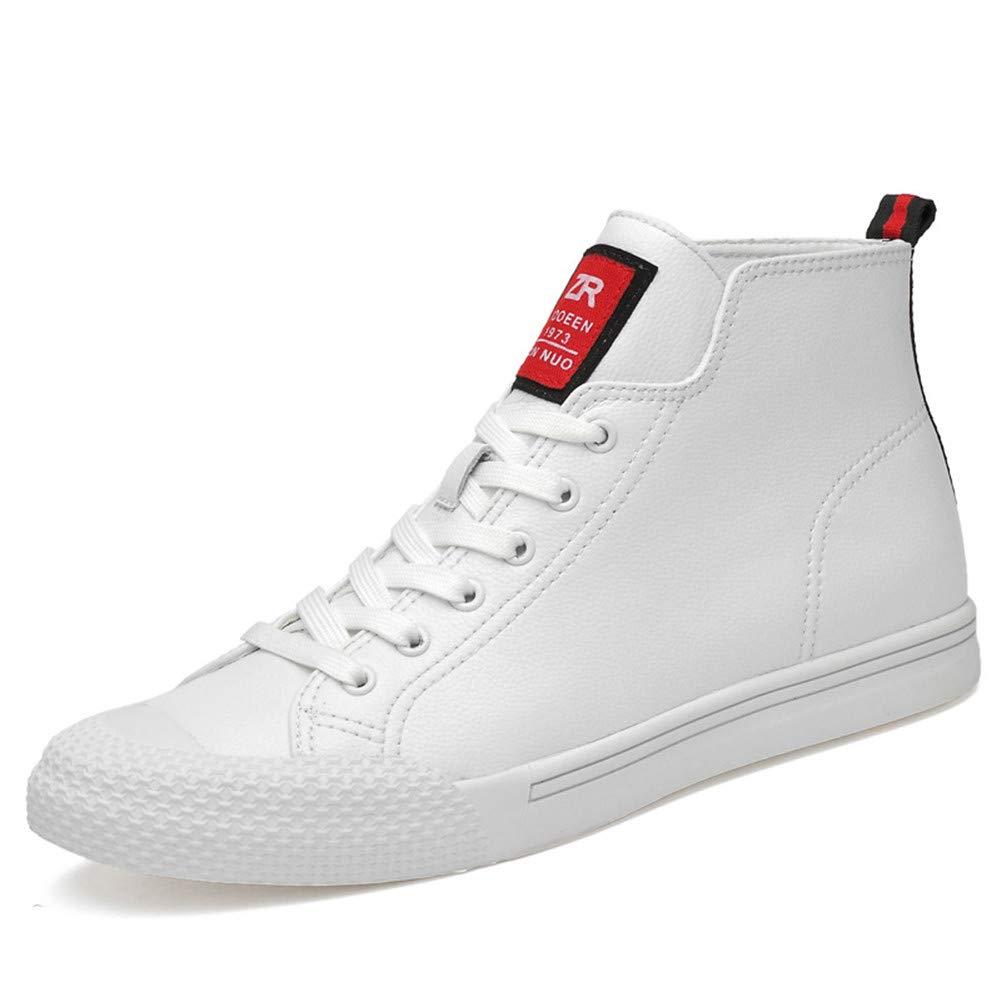 Weixiao Winter Herrenschuhe, Herren Lederstiefel Hohe Schuhe Plus Samt Warme Schuhe Outdoor Turnschuhe Freizeitschuhe (Farbe : B, Größe : 43)
