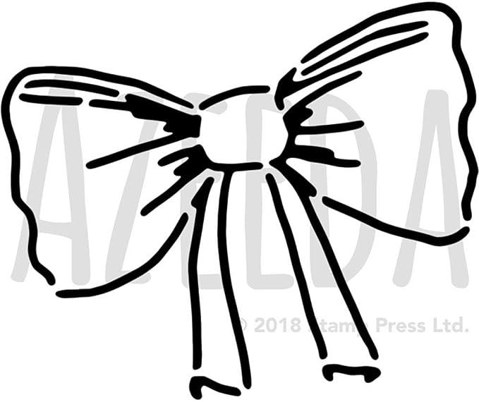 Azeeda A4 Corbata de Moño Plantilla de Pared / Estarcir ...