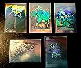 1991 MARVEL UNIVERSE SERIES 2 HOLOGRAM 5 CARD SET