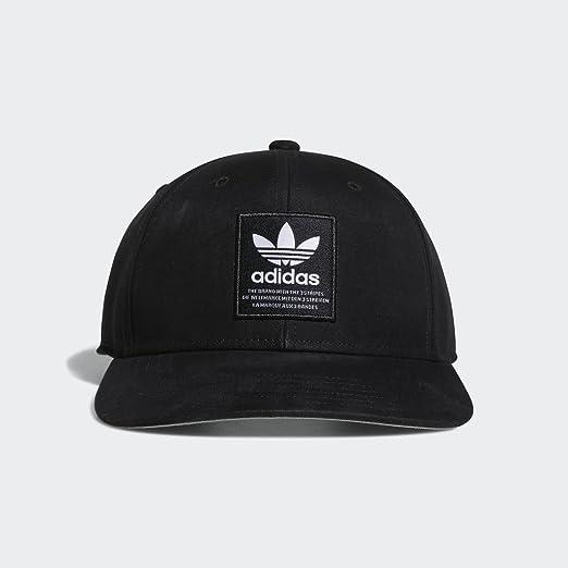 3c6805404c0537 adidas Men's Originals Patch Trucker Structured Cap, black/white, One Size