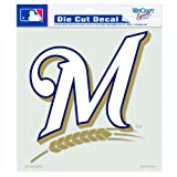 MLB Milwaukee Brewers 8-by-8 Inch Diecut Colored Decal