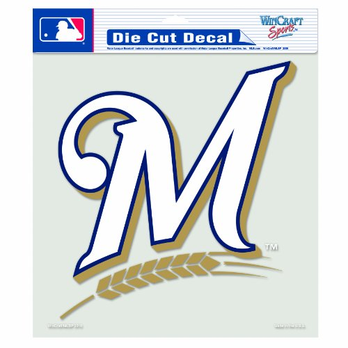 (WinCraft MLB Milwaukee Brewers 8-by-8 Inch Diecut Colored Decal)