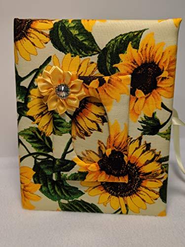 Custom Photo Album, Flower Photo Album, Sunflower Photo Album - Holds 100 4x6 Photos - Handmade