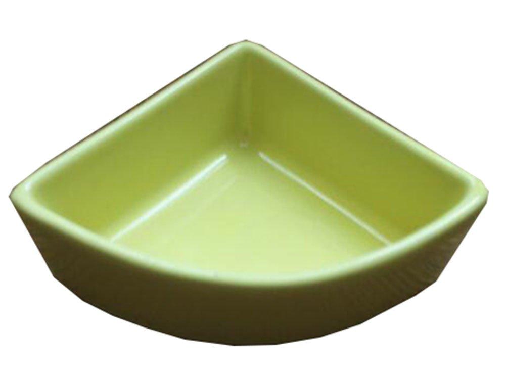 George Jimmy Pet Supplies One Little Ceramic Feeding Pot Anti-Splash Food Bowl for Squirrel Hedgehog Hamster 10.5x7.5x4CM Yellow by George Jimmy