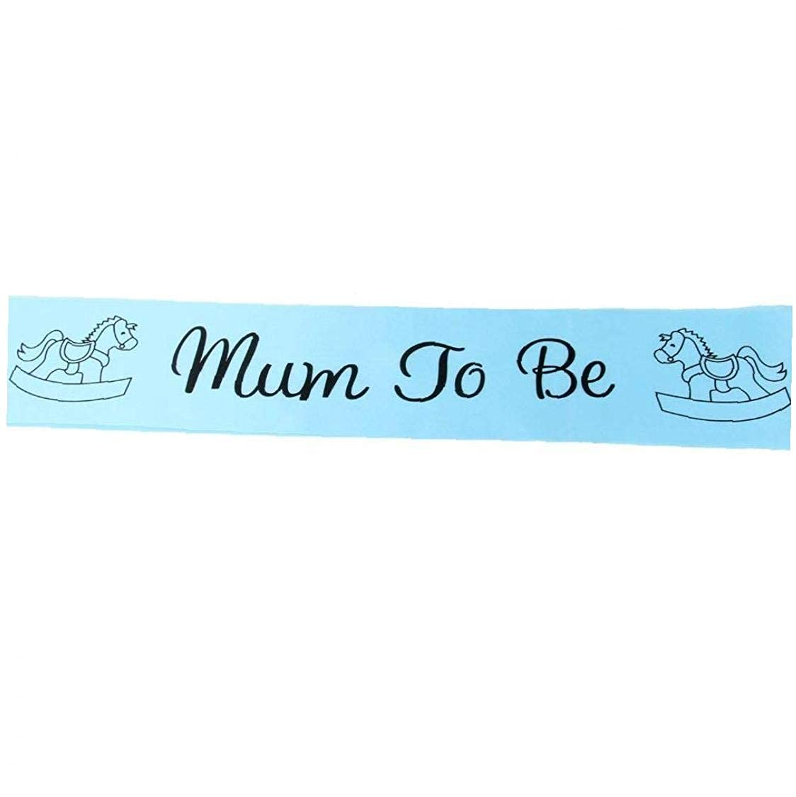 BANAMANA Mum to Be Sash Baby Shower Party Decoration Blue Clothes Supplies