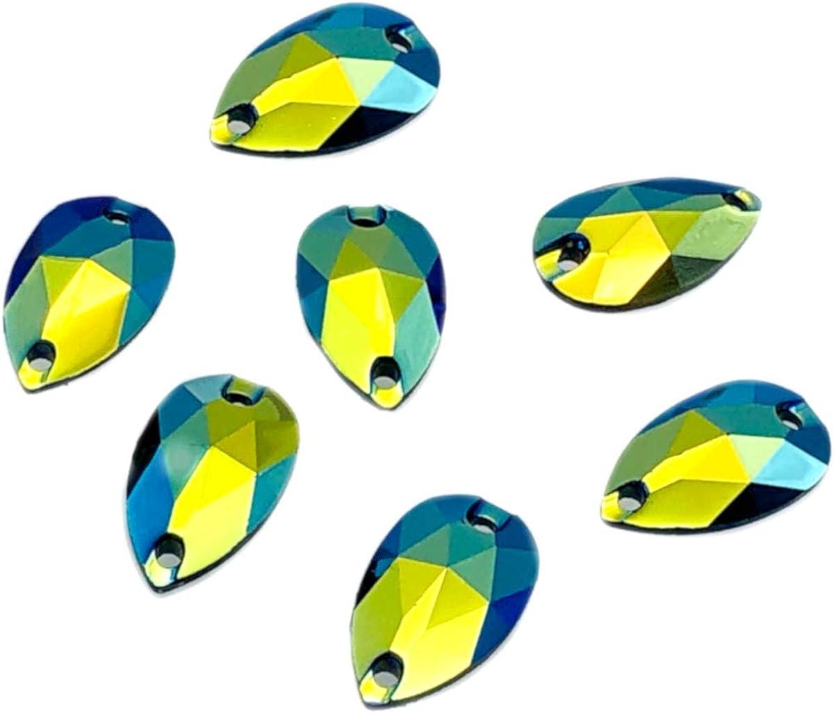 50 unidades de la marca Eimass para coser o pegar Cristales de resina con forma de l/ágrimas