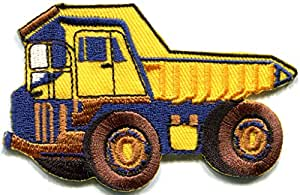 Dump truck dumper tip truck tipper lorry retro embroidered applique iron-on patch new by TKPatch
